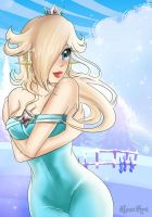 Rosalinas winter on the blue planet by HewArt