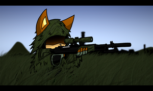 Ghillie Kitty by G-Wolfe