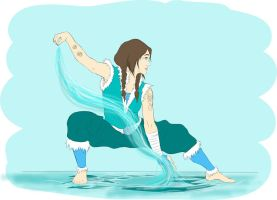 Myself as a water bender by shango266