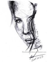 15 min pen sketch Kate - Lost by HoshisamaValmor