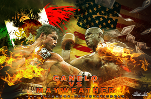 Mayweather VS Canelo by unbreakablestatic