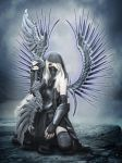 Shadow angel by babsartcreations