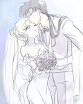 SeiyaxUsagi Wedding- draw a sketch by nunsaram