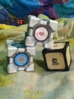 Portal 2 Cubes by shania09