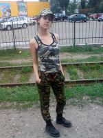 Camo girl xD by TanyaCroft