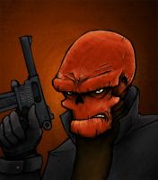 Kiriban 7500: Red Skull by Plognark