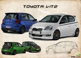 Toyota vitz with custom kit by yasiddesign