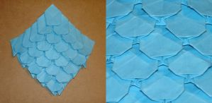 origami fish scales by pandaraoke