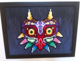 Legend of Zelda -  Perler beads Majora's mask by bGilliand