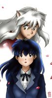 Inuyasha and Kagome Fanart NEW by guto-strife-1