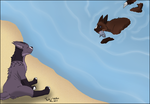 [VE - Fishing] Its a lovely day for a splash! by Dorky-Wolfen