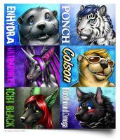 Bunch of Badges _01 by Nimrais