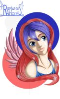 Iki red, white, and blue by purpleangelwings