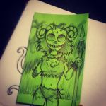 Green Post-it 10 by MrPicto