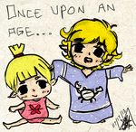 Baby Link and Aryll by To0nLink
