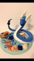 Dragonair sculpture by KatiesClayCreatures