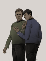 Star Trek FanArt: It's always darkest by NinaKask