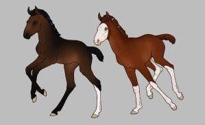 Foals WIP by horsy1050