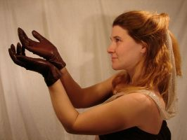Jodi Brown Leather Gloves 1 by FantasyStock