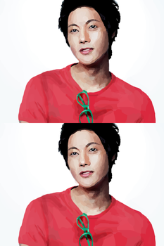 Kim Hyun Joong in red. by mentheliqueur