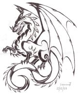 Full dragon tattoo v2 by Saera-Song