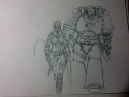 WIP Navigator and the Wolfblade by StoryKillinger