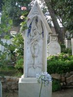 Grave with angel by lilie-morhiril