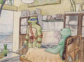 TMNT: I'll Be Right Back by GwenIala