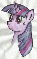 Twilight Sparkle - watercolors by MoonlightFL