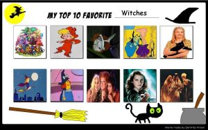 Kesh's Top 10 Witches by KessieLou