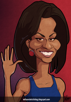 Michelle Obama (Cartoon Caricature) by wilson-santos