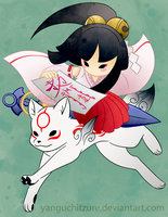Okamiden (Chibi and Kagu) by Yanguchitzure