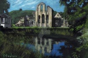 Valle Crucis Abbey by BarefootTiger