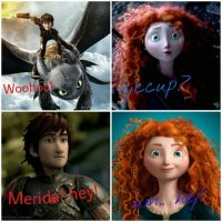 Merida meets hiccup again by vampirelover466