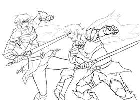 Inheritance: Eragon vs Murtagh WIP by ElizaLento