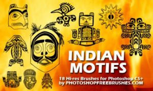 18 Indian Motiffs PS Brushes by fiftyfivepixels