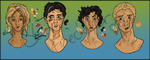 Percy Jackson Characters (First Series) by Star-Freckler