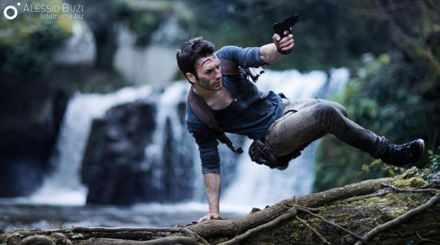 More Action - Nathan Drake Cosplay Uncharted 4 by LeonChiroCosplayArt