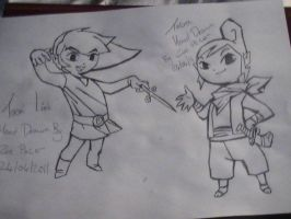 Link And Tetra - Wind Waker by ZeldasTwin