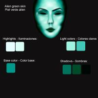 Green skin swatches: Alien by MarinaSchiffer