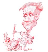 Chris ayers caricature by efdemon
