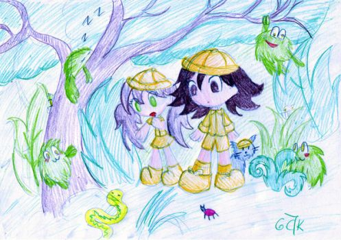 looking for fuzzy froggies by cartoonmaniack