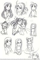 FATE: Doodles by rinacat