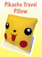 Pikachu travel pillow by CynicalSniper