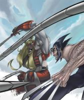 Omega Red vs Wolverine by CyberMonkeytron3000