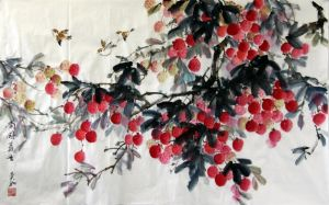 Chinese Painting Lychee by puffley115