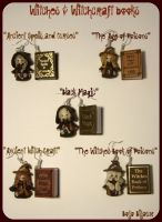 Witches and Books Earrings by Bojo-Bijoux