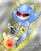 Metal Sonic Fixing Tails Doll by milesprower0
