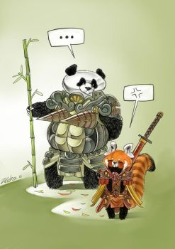 Pandas - Red and White by Zwickysten