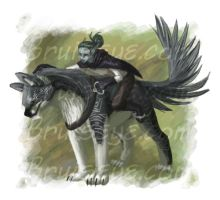 Riding Eindae by lizspit